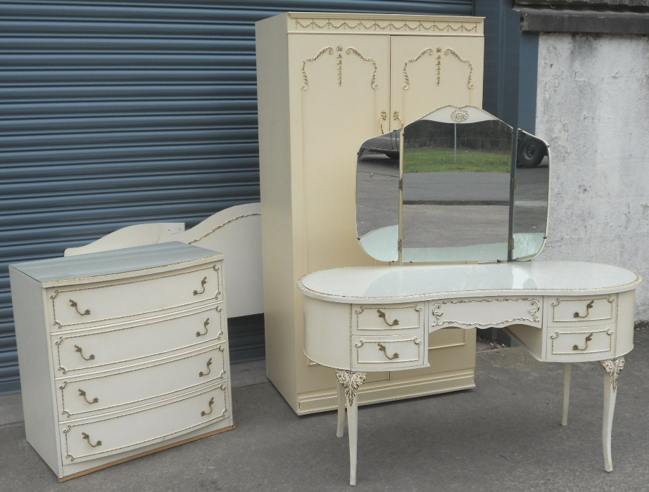 Louis Style Four Piece Bedroom Furniture Suite - SOLD